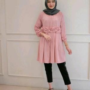 Mutiara Blouse In Baju Atasan Kerja Wanita Blouse Tunik Kemeja Muslim Tokopedia