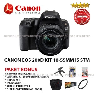 Canon Eos 200d Kit 18 55mm Is Stm Kamera Dslr Paket Spesial Canon Eos 200d Kit 18 55mm Is Stm Kamera Dslr Paket Spesial Tokopedia
