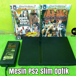Mesin PS2 Slim Optik PS 2 Slim Play Kaset