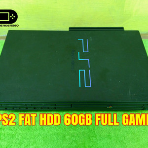 Mesin PS2 Fat HDD 60GB Full Game PS 2 Fat Hardisk Dalam NA