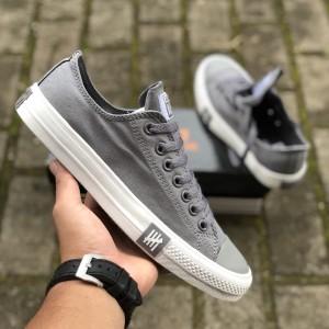 Sepatu Converse Undefeated Low Grey Premium Murah Tokopedia