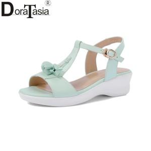 Sandal wedges kokop cream gesper murah. Source · 39wanita Kulit Asli Padat Wedges  Gesper Sepatu Tali Wanita Kasual Mani a50aa704d9