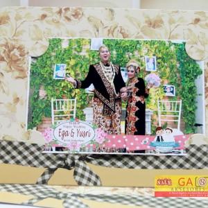 Frame Photobooth sINGLE 4R bunga retro Murah sidoarjo