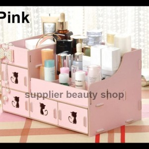 Rak Kosmetik Rkk31 Bahan Kayu Desktop Storage Kitty Cat Tokopedia