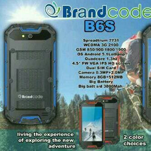 Brandcode B6s Hp Android 3g Murah Model Outdoor Ram 512 Rom 4gb Original Garansi Resmi Tokopedia