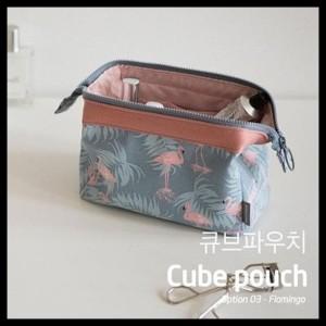 Diskon Korean Cube Pouch Cosmetic Bag Tas Kosmetik Tokopedia