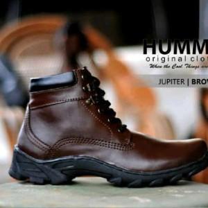 Humm3r Jupiter Coklat Sepatu Boot Kerja Pria Sepatu Boots Tracking Pria Casual Keren Trendy Tokopedia