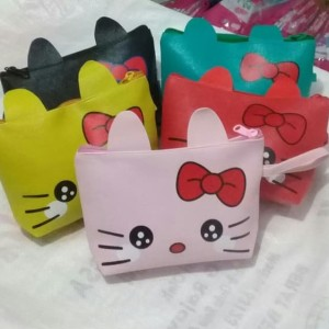 Tas Kosmetik Pouch Hello Kitty Colorful Tokopedia