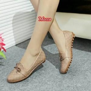 Sepatu Wanita Flatshoes Debby Motif Kulit Ular Tokopedia