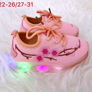 Sepatu Anak Cewek Import Bunga Sepatu Led Anak Perempuan Import Bunga Tokopedia