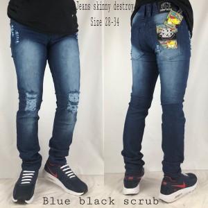 Celana Jeans Sobek Premium Tokopedia