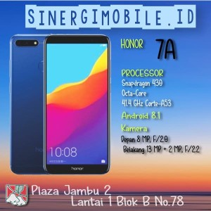 Honor 7a Smartphone Blue 32gb 3gb Tokopedia