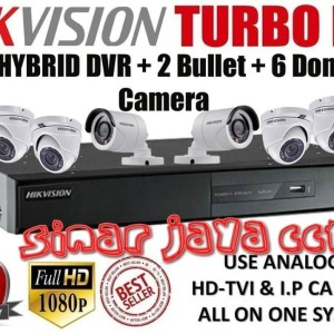 PAKET CCTV 8CHANEL HIKVISION FULL HD 2MP(SIAP PASANG)