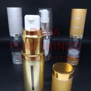 Botol Kosmetik Pump Vakum Glitter Gold Tokopedia