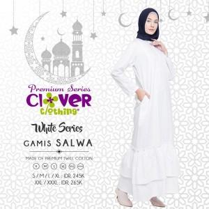 Baju Muslim Gamis Syari Putih Abaya Hitam Tokopedia