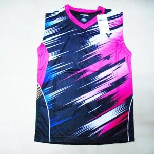 Baju Singlet Badminton Victor V 20 Merah Tokopedia
