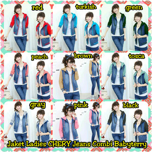 Jaket Ladies Chery Jeans Combi Babyterry