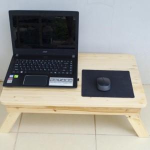 Meja Laptop Lipat Kokoh Kayu Jati Belanda Untuk Lesehan 55x35cm Tokopedia