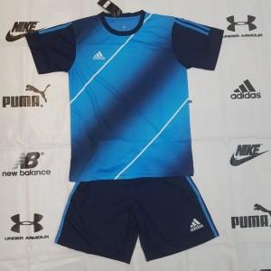 Baju Stelan Futsal Dewasa Adidas Ad 28 Biru Tokopedia