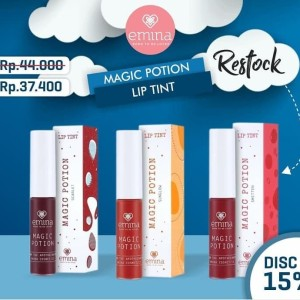 Emina Lip Tint Magic Potion Scarlet Liptint Kosmetik Lokal Murah Tokopedia