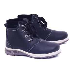 Sepatu Boots Kulit Anak Sepatu Anak Laki Laki Hitam Sepatu Anak Kecil Gf Tokopedia