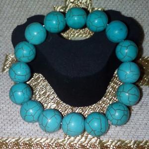 Gelang Batu Pirus Turquoise Asli .