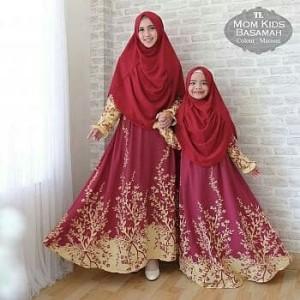 Baju Gamis Couple Ibu Dan Anak Tokopedia
