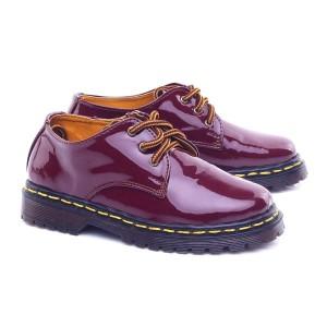 Sepatu Boots Docmar Anak Maroon Tokopedia
