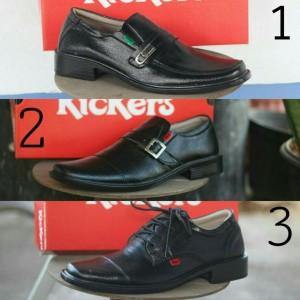 Sepatu Kerja Kantor Pria Kickers Pantofel Kulit Tokopedia