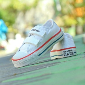 Sepatu Anak Converse Junior Grade Ori Full White Putih Casual Trendy Tokopedia