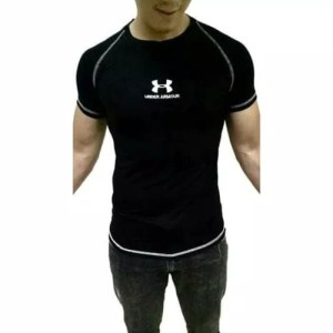Baju Kaos Gym Fitness Training Underarmour Under Armour Olahraga Lari Tokopedia