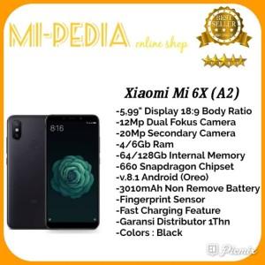 Xiaomi Mi 6x Ram 6gb Internal 64gb Garansi 1 Tahun Tokopedia