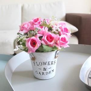 Bunga Rose Mini Bunga Hias Bunga Pajangan Bunga Artificial Pot Bulat ... 5dc6ee8ef0