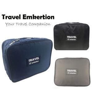 Toiletries Bag Organiser Tas Kosmetik Travel Tas Alat Mandi 003te Hitam Tokopedia
