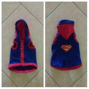 Baju Hodie Kucing Anjing Superman Tokopedia