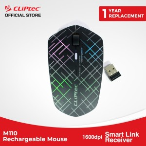 Jual Cliptec - M110 / Illuminated Rechargeable Wireless Mouse / 1600dpi