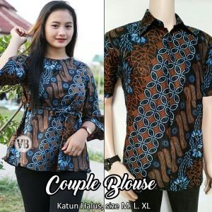 Baju Sarimbit Atasan Couple Batik Daun Rambat Tokopedia