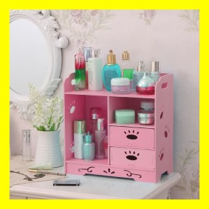 Desktop Storage Rak Kosmetik Makeup Tempat Perlengkapan Make Up Tokopedia