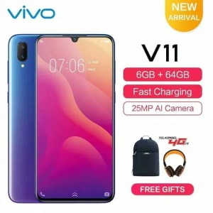 Vivo V11 Blue Tokopedia