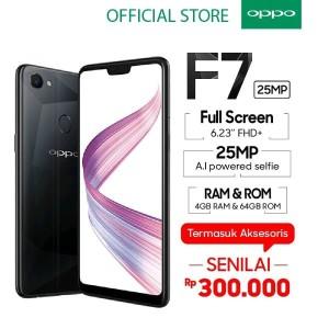Oppo F7 Diamond Black Limited Tokopedia