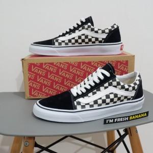 Sepatu Vans Old Skool Checkerboard Tokopedia