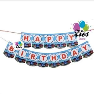 Banner happy birthday / bunting flag ulang tahun bus tayo