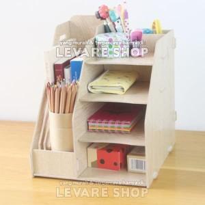 Book Stationary Storage Rak Mini Meja Buku Majalah Dokumen Alat Tulis