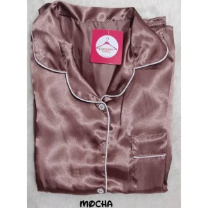 Cp Satin Pajamas Celana Panjang Baju Tidur Wanita Pajamas Piyama Setelan Satin Tokopedia