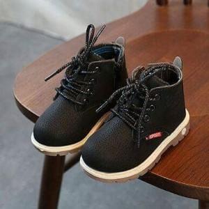 Sepatu Anak Import Hitam Cowok Cewek Tokopedia