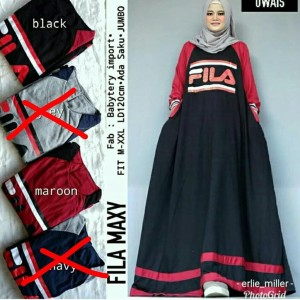 Baju Muslim Dress Fila Tokopedia
