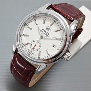 JAM TANGAN PRIA ROLEX OYSTER AUTOMATIC BROWN SILVER
