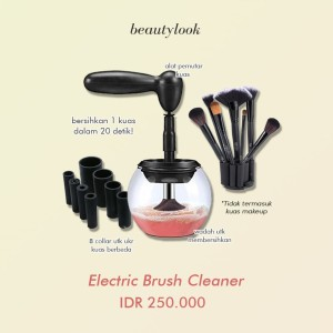 Electric Makeup Brush Cleaner Pembersih Kuas Kosmetik Elektrik Tokopedia