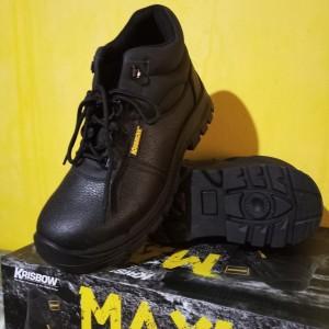 Sepatu Safety Maxi 6 Inch Sepatu Pengaman Maxi Ankle Krisbow Terbaru Tokopedia