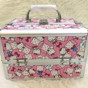 Beauty Case Hello Kitty Tas Makeup Kosmetik Koper Makeup 4 Layer Tokopedia